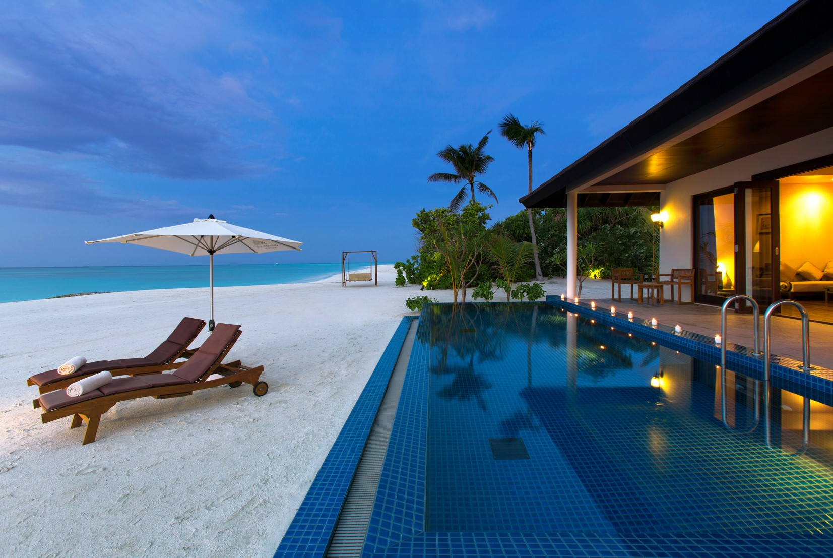 Sunset Beach Villa with Pool